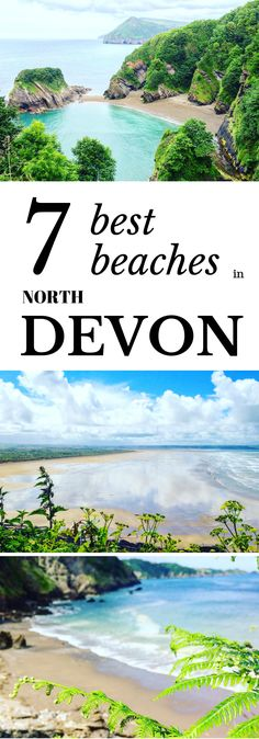 Heading to the stunning coastline of North Devon? Read our pick of the best beaches in North Devon here. We talk you through secret coves, magnificent stretches of golden sands and dog friendly beaches for the family. Cornwall England, Yorkshire England, Yorkshire Dales, Beautiful Places To Travel, Beautiful Beaches, Skye Scotland, Highlands Scotland, North Devon, North Wales