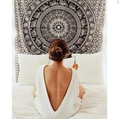Black and White Tapestries Elephant Mandala Hippie Tapestry Indian Traditional Throw Beach Throw Wall Art College Dorm Bohemian Wall Hanging Boho Twin Bedspread