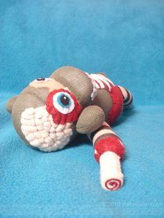 Cortex - A Zombie Sock Monkey who's hungry for BRAAAAIIINNNSSSS