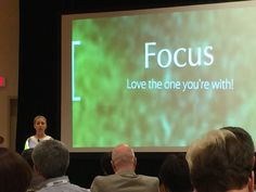FOCUS: Love the one you're with. Patient focus! Jamie McCleave verkamp NSCHBC #ZetterHealthCare
