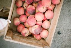 A crate of Georgia peaches.