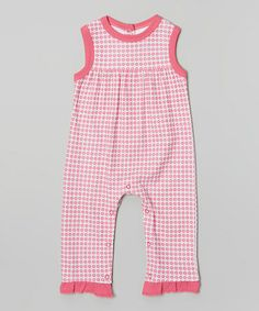 This Pink Floral Ruffle Organic Playsuit - Infant by Origany is perfect! #zulilyfinds