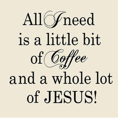 Coffe & Jesus Kitchen Wall Decal Style by VinylDesignCreations