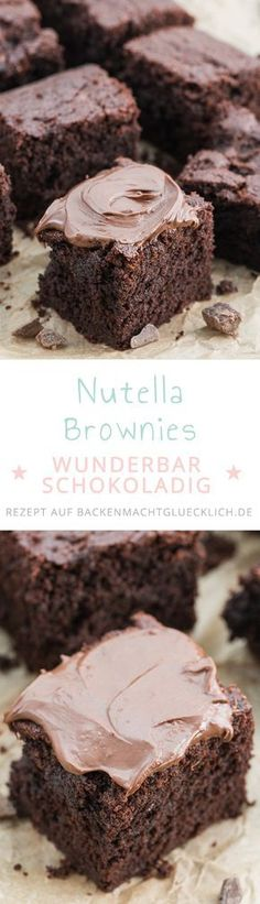 Das perfekte Nutella-Brownie-Rezept: einfach, schnell und mit köstlichem Ergebnis! Die Nutella-Brownies sind schön soft, chewy und superschokoladig.