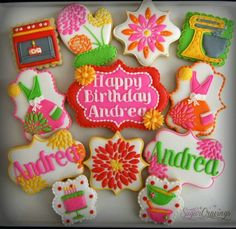 Sugar Cravings:  Baking themed birthday cookies.