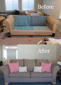 do it yourself divas: DIY Strip Fabric From a Couch and Reupholster It. To cover the god awful purple sofa bed!