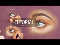 How to draw a realistic eye with Panpastel and colored pencils - YouTube