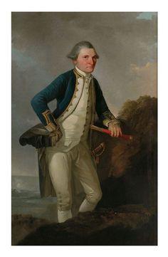 size: Giclee Print: Portrait of Captain James Cook by John Webber : Cuisine Map Of New Zealand, Royal Navy Officer, Captain James Cook, Library Of Alexandria, Australian Painting, Print Store, Figurative Art, Find Art, Giclee Print