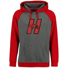 Hartford Hawks Classic Primary Pullover Hoodie - Ash/Red - $49.99