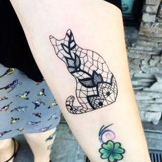 kaķis tetovējums