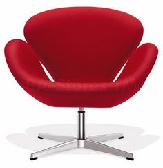 Swan Red Leather Chair Fine Mod Imports FMI1144-RED