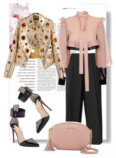 """""""Chic"""" by miky83 on Polyvore featuring JIRI KALFAR, MICHAEL Michael Kors, Christian Louboutin and WithChic"""