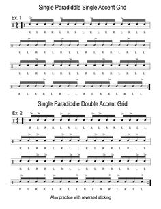 Here are a couple of my favorite workouts that will help improve your ability to place accents anywhere within a given sticking pattern. The pattern I'm using is a rudiment known as the singl…
