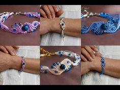 In this easy Macrame tutorial I'll show you How to Make Bracelet with Easy and Simple Macrame Design. Macrame Bracelet Diy, Macrame Bracelet Patterns, Bead Loom Bracelets, Macrame Earrings, Macrame Knots, Macrame Jewelry, Micro Macramé, Chevron Friendship Bracelets, Bracelet Tutorial