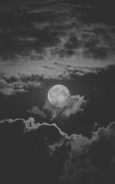 Moon, clouds Night