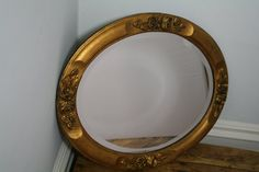 Gorgeous oval mirror in antique victorian gold by theUniqueMagpie