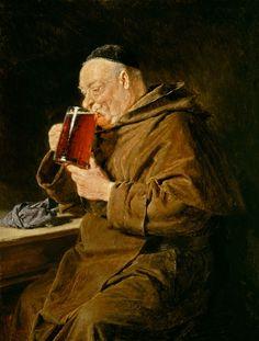 Image: Eduard Grützner - The connoisseur (Capuchin monk)