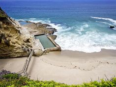 That pool! Carved into the stone, the ocean fills it every night with high tide.