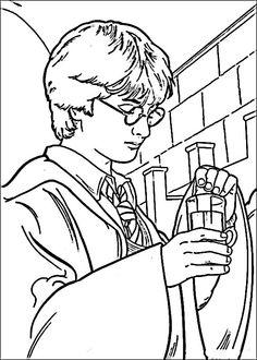 Harry Potter Tegninger til Farvelægning. Printbare Farvelægning for børn. Tegninger til udskriv og farve nº 13