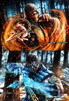 Sub-Zero/ Scorpion Mortal Kombat X Sub Zero Mortal Kombat, Escorpion Mortal Kombat, Mortal Kombat Tattoo, Mortal Kombat X Scorpion, Mortal Kombat X Wallpapers, Zero Wallpaper, Claude Van Damme, Mundo Dos Games, Mileena