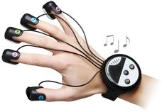 Japanese Wrist-Mounted Finger Piano, future gadget, device, game, innovation technology