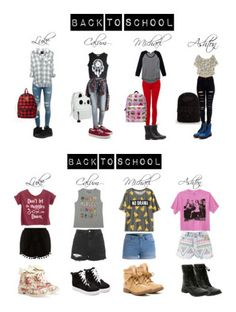 """""""Back To School w/ 5SOS"""" by deyoakley on Polyvore"""