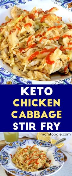 Keto Chicken cabbage stir fry - low carb stir fry great for ketogenic diet! Keto Chicken cabbage stir fry - low carb stir fry great for ketoge. Cabbage Stir Fry, Chicken And Cabbage, Fried Cabbage, Chicken Rice, Stir Fry Low Carb, Healthy Stir Fry, Keto Cabbage Recipe, Cabbage Recipes, Cabbage Meals