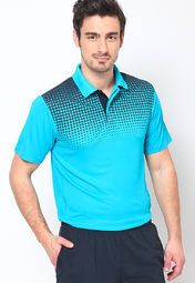 Reebok presents this blue coloured T-shirt, which will make you look exceptionally stylish. Made of polyester, this polo T-shirt for men is super comfortable to wear. Featuring regular fit, this printed T-shirt will make you look youthful.