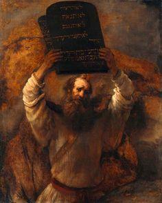 Rembrandt, Moises con los diez mandamientos (Antiguo Testamento)