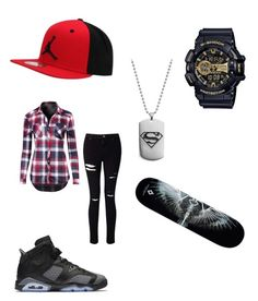 """""""Untitled #18"""" by otakuanime11 on Polyvore featuring NIKE, Miss Selfridge, Marcelo Burlon and G-Shock"""