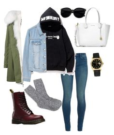 """..."" by viridiana-ponce on Polyvore featuring J Brand, A BATHING APE, MANGO, Mr & Mrs Italy, Dr. Martens, Michael Kors, Rolex and J.Crew"