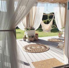 Rustic Decor Ideas For Outdoor Spaces Terrace Design, Patio Design, Garden Design, House Design, Backyard Patio, Pergola Patio, Backyard Landscaping, Gazebo, Outdoor Rooms