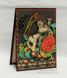 """graphic 45 couture rubberstamp collection   For the final card, this """" French Country """" birthday card posted ..."""