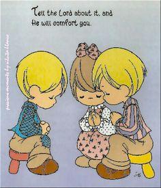 Niños precious moments, rezando
