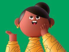 From to Illustration - Design Trend - Masterpicks - Design Inspiration Funny Character, Character Design, Character Modeling, Character Illustration, Digital Illustration, Illustration Styles, Level Design, Web Design Trends, 3d Design
