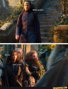 kili, lindir, thehobbit, funny, hot