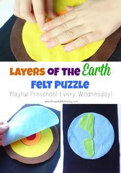 Explore the inner cores of the earth with this easy felt activity for your preschooler!