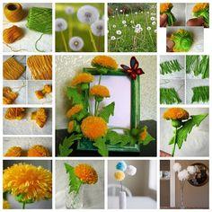 DIY pretty yarn dandelion   Flickr - Photo Sharing!