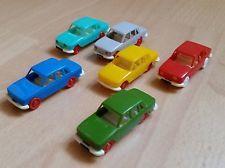 6 kleine Plastik-Autos DDR-Zeit-KULT
