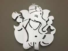 Ganesha Hindu Elephant Metal Wall Art by INSPIREMEtals on Etsy