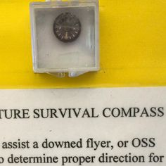 What if your life depended on something the size of a dime? More to come on this miniature marvel and the Millville Army Air Field Museum. Have a good weekend. #MillvilleNJ #MillvilleArmyAirFieldMuse #museum #compass #navigation #gps #direction stem #UShistory