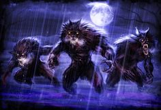Adoradores de Malar. ~ Werewolves at Night by Jumpersart.deviantart.com on @deviantART