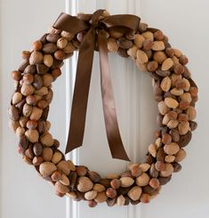 Make a nut wreath using these easy-to-follow instructions. Credit: Webb Chappell/Wonderful Machine