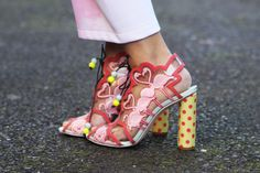 Beth Postle, Graduate of Central Saint Martins BA menswear design and print (Sophia Webster Shoes)