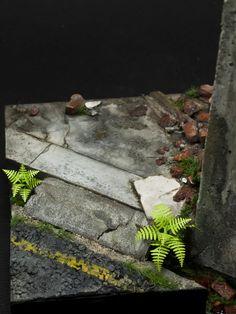 1:20 scale model vignette by Julius Lim. #diorama #decay
