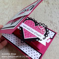 Ink Stamps, Pop Up Cards, Valentine Day Cards, Stamping Up, Stampin Up Cards, Paper Crafts, Fancy, Shapes, Pink