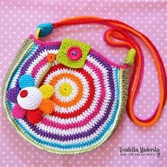 photo of the brightly coloured crochet bag of the new autumn collection by Vendulka