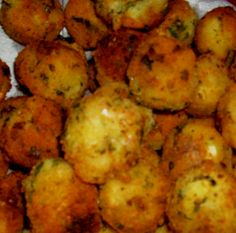 Breadfruit puffs ~ Breadfruit can be stewed, baked, roasted, fried or boiled. It is often cooked with coconut milk, as this brings out its natural sweetness. Many compare the taste to fresh baked bread, which is where it got its name.