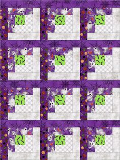Halloween Ghosts Treat Quilt Kit PreCut Blocks