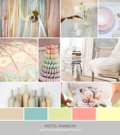 pastel rainbow #wedding #gamos
